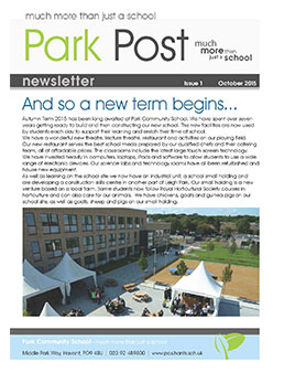 Park Post Issue 01 Frontcover