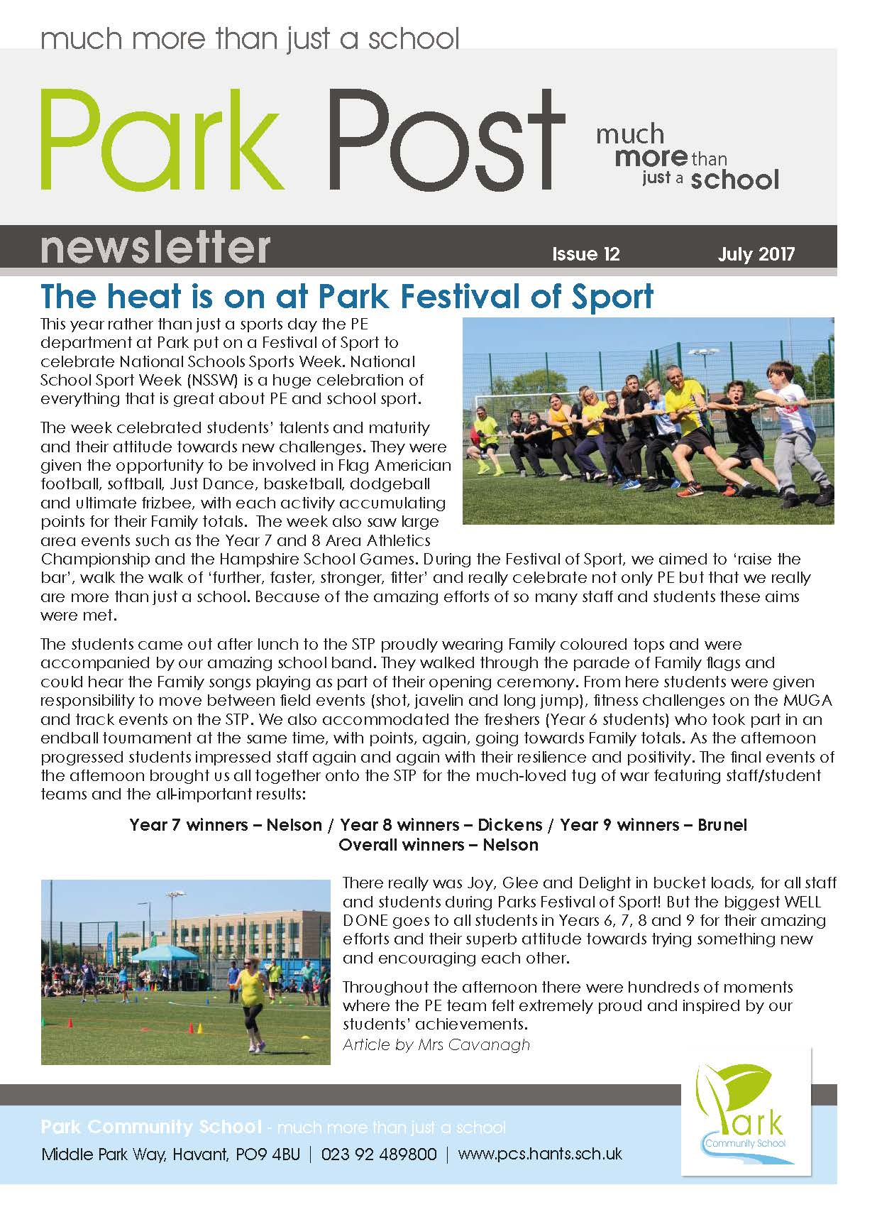 Park Post Issue 12 Frontcover