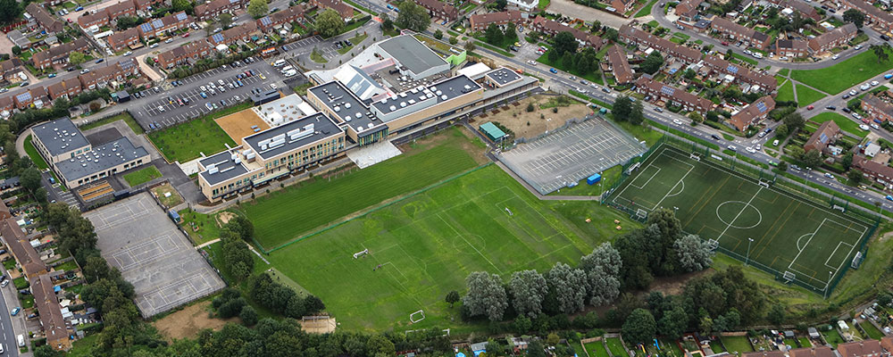 Aerial photograph of Park Community School